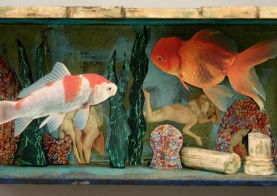 Atlantis Found in a Fishbowl mixed media