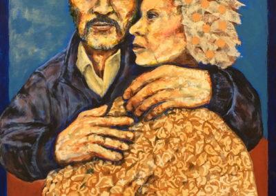 El Matrimonio Real painting acrylic collage