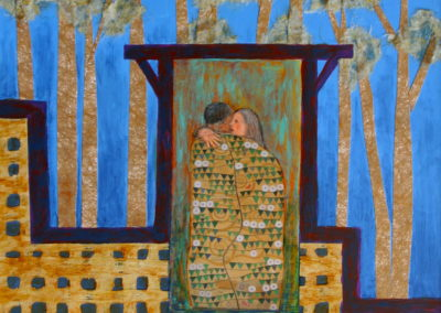 Friends and lover painting collage acrylic