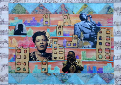 Lady Day painting collage acrylic