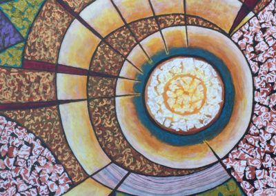 Ocular painting collage acrylic