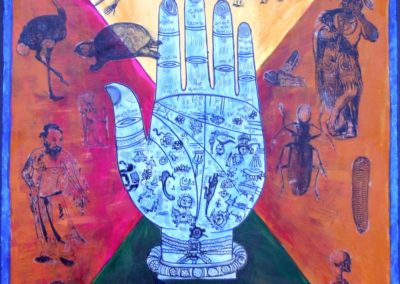 Palmistry collage acrylic