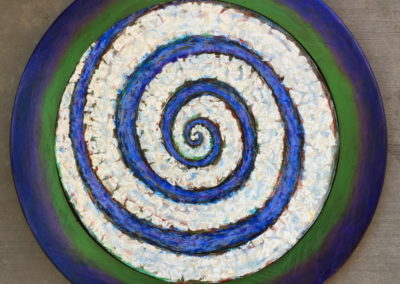 Spiral painting collage acrylic
