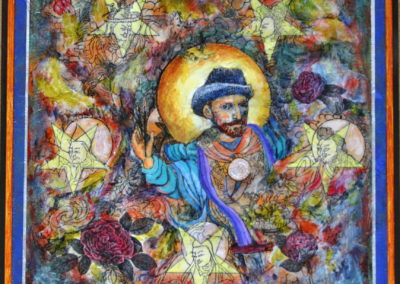 VanGogh's Odyssey painting acrylic collage