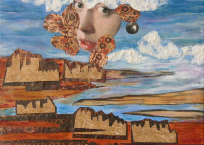 Vermeer's Delft painting acrylic collage