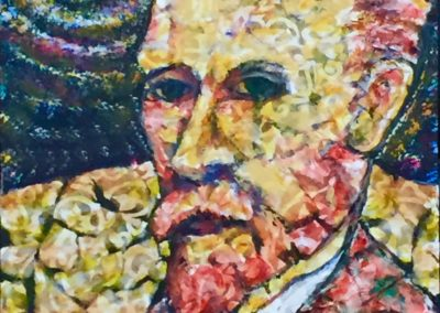 Vincent painting acrylic & collage
