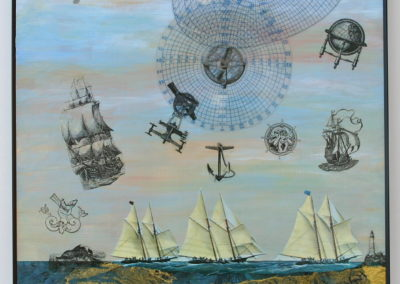 Voyages painting acrylic collage